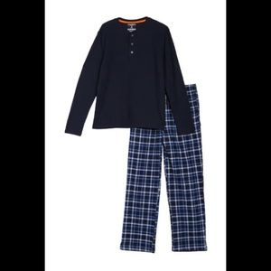 Hawke & Co Thermal Henley & Plaid Flannel Pant Set